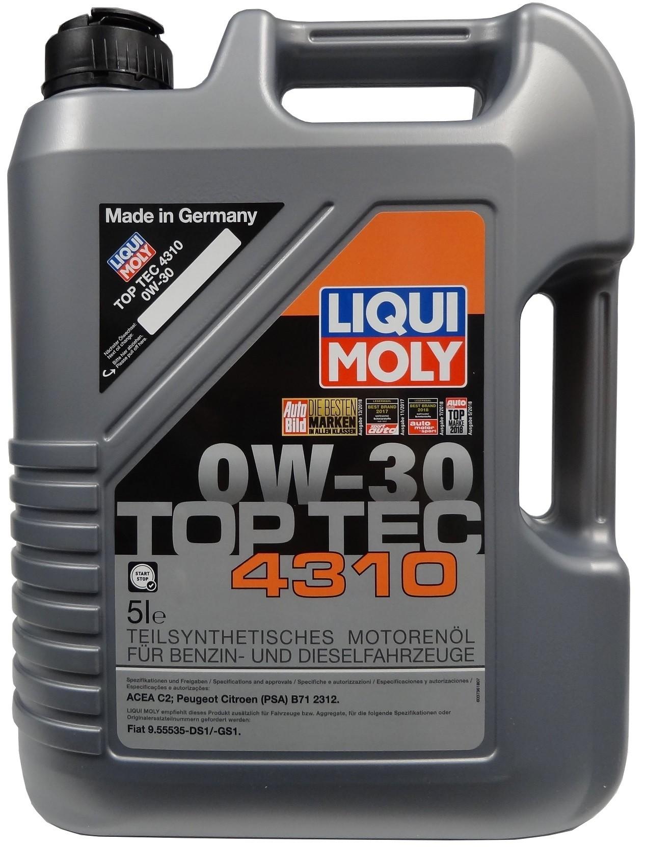 LIQUI MOLY TOP TEC 4310 0W-30 5L