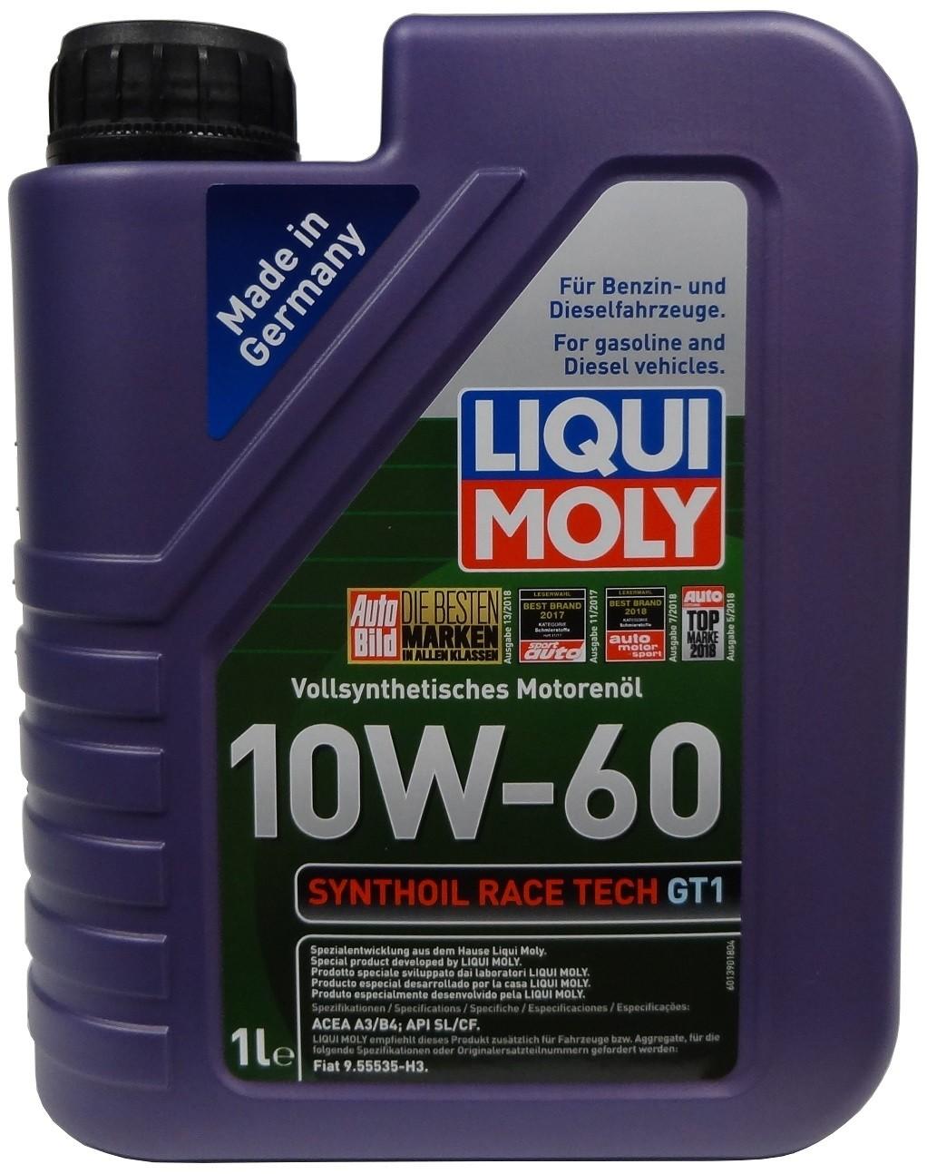 LIQUI MOLY SYNTHOIL RACE TECH GT1 10W-60 1L
