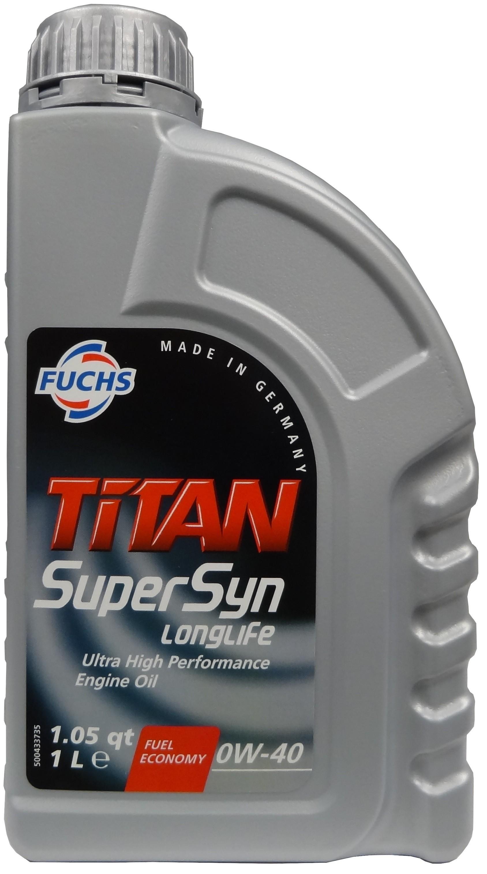 FUCHS TITAN SUPERSYN LONGLIFE 0W-40 1L
