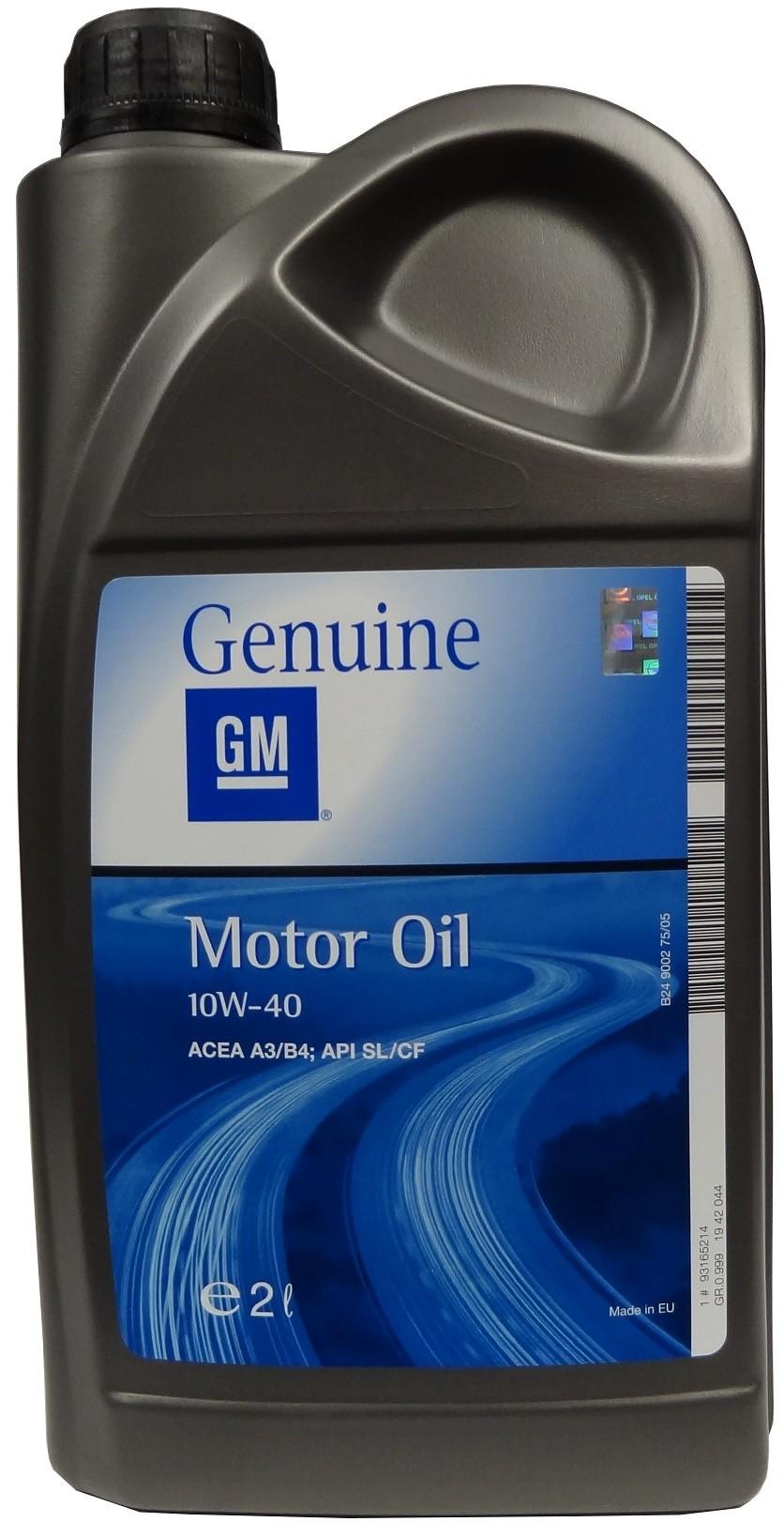 GM MOTOR OIL 10W-40 2L