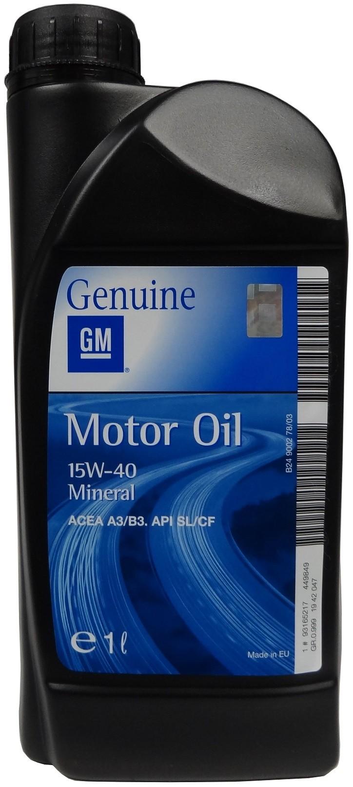 GM MOTOR OIL 15W-40 1L