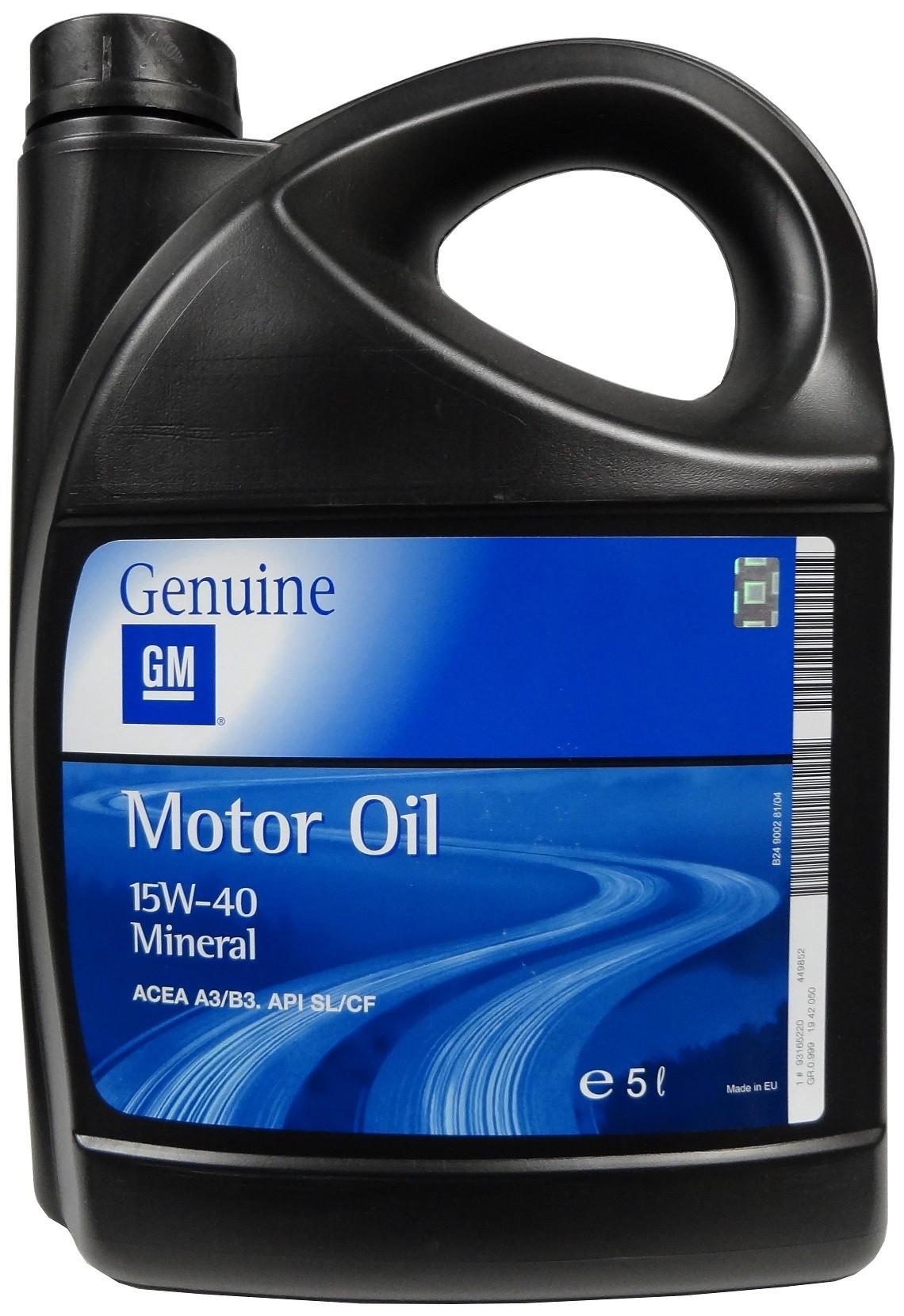 GM MOTOR OIL 15W-40 5L