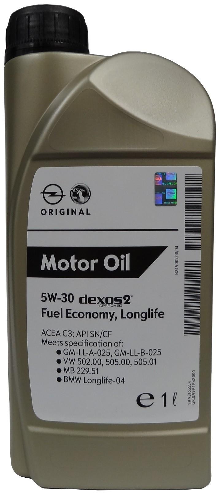 GM MOTOR OIL 5W-30 1L