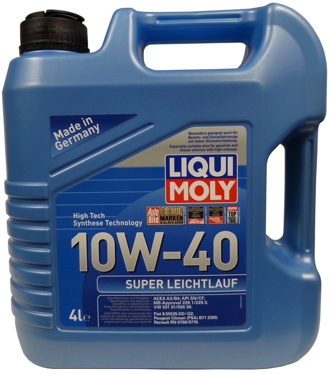 LIQUI MOLY 10W-40 SUPER LEICHTLAUF 4L