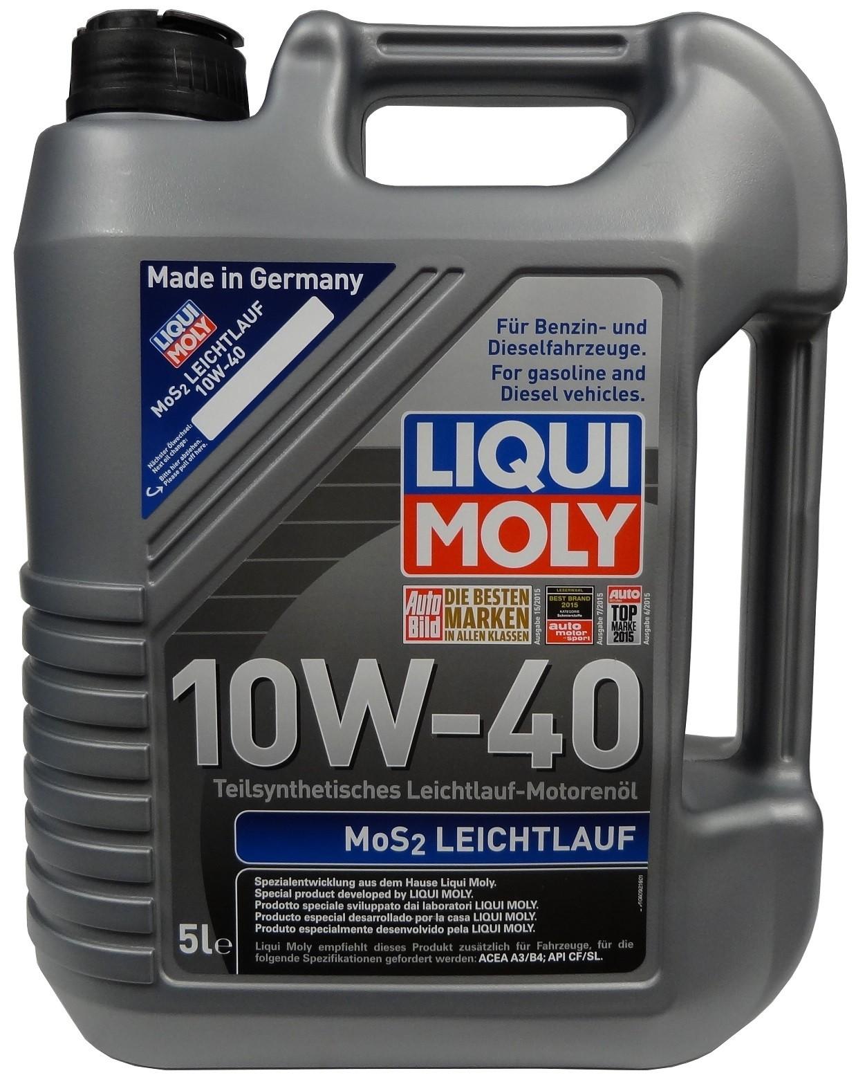 LIQUI MOLY 10W-40 MoS2 LEICHTLAUF 5L