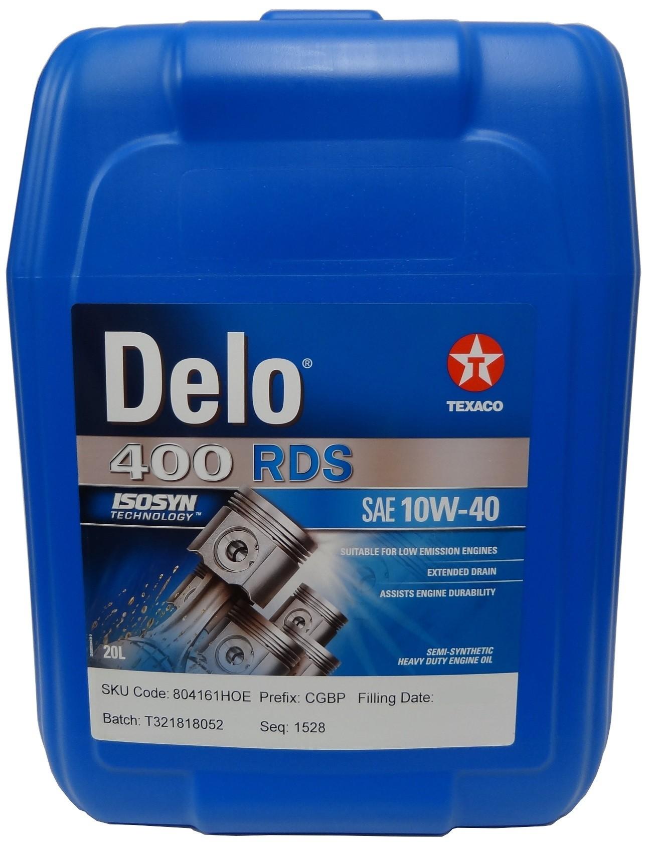 TEXACO DELO 400 RDS 10W-40 20L