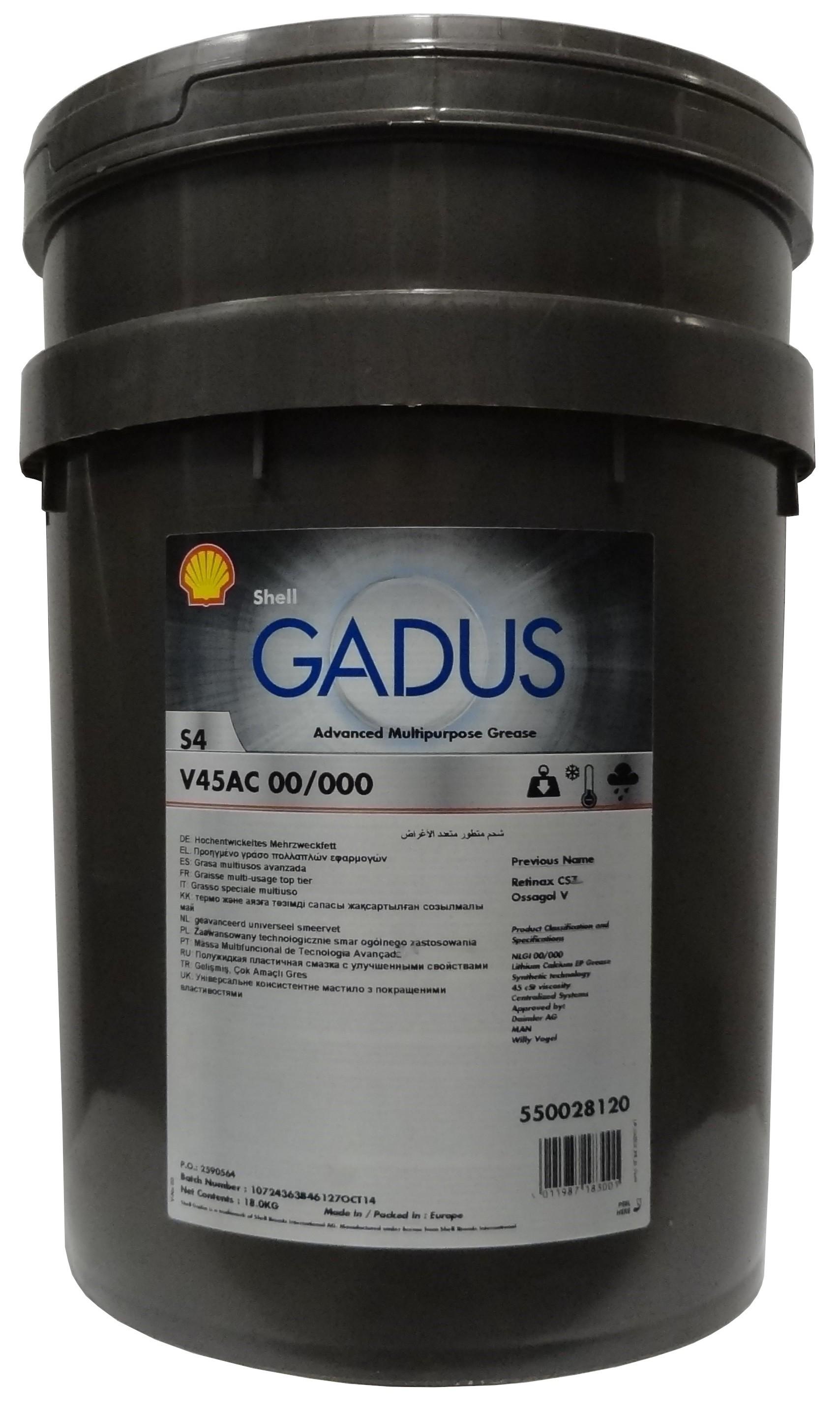 SHELL GADUS S4 V45AC 00/000 18KG