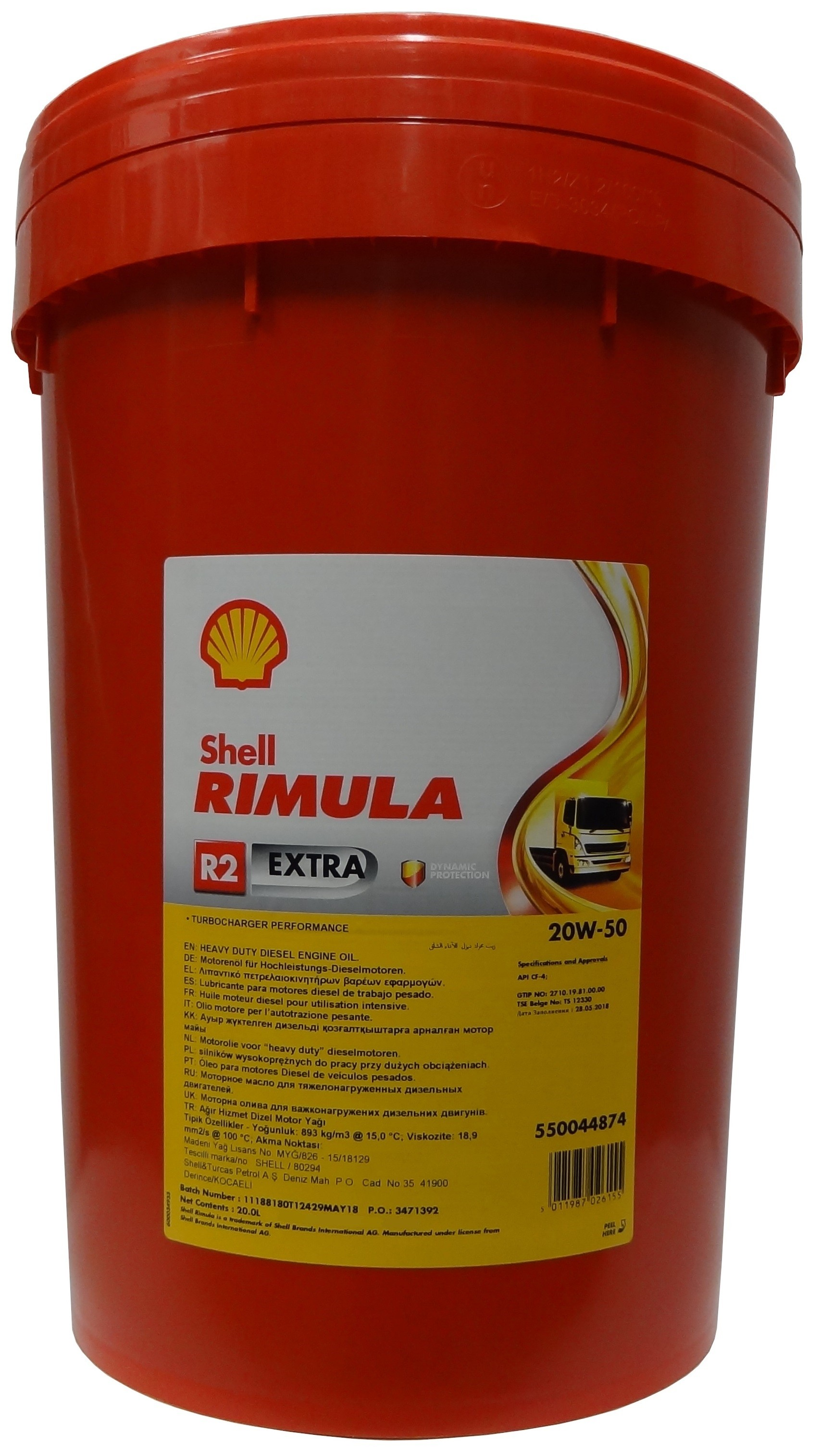 SHELL RIMULA R2 Extra 20W-50 20L