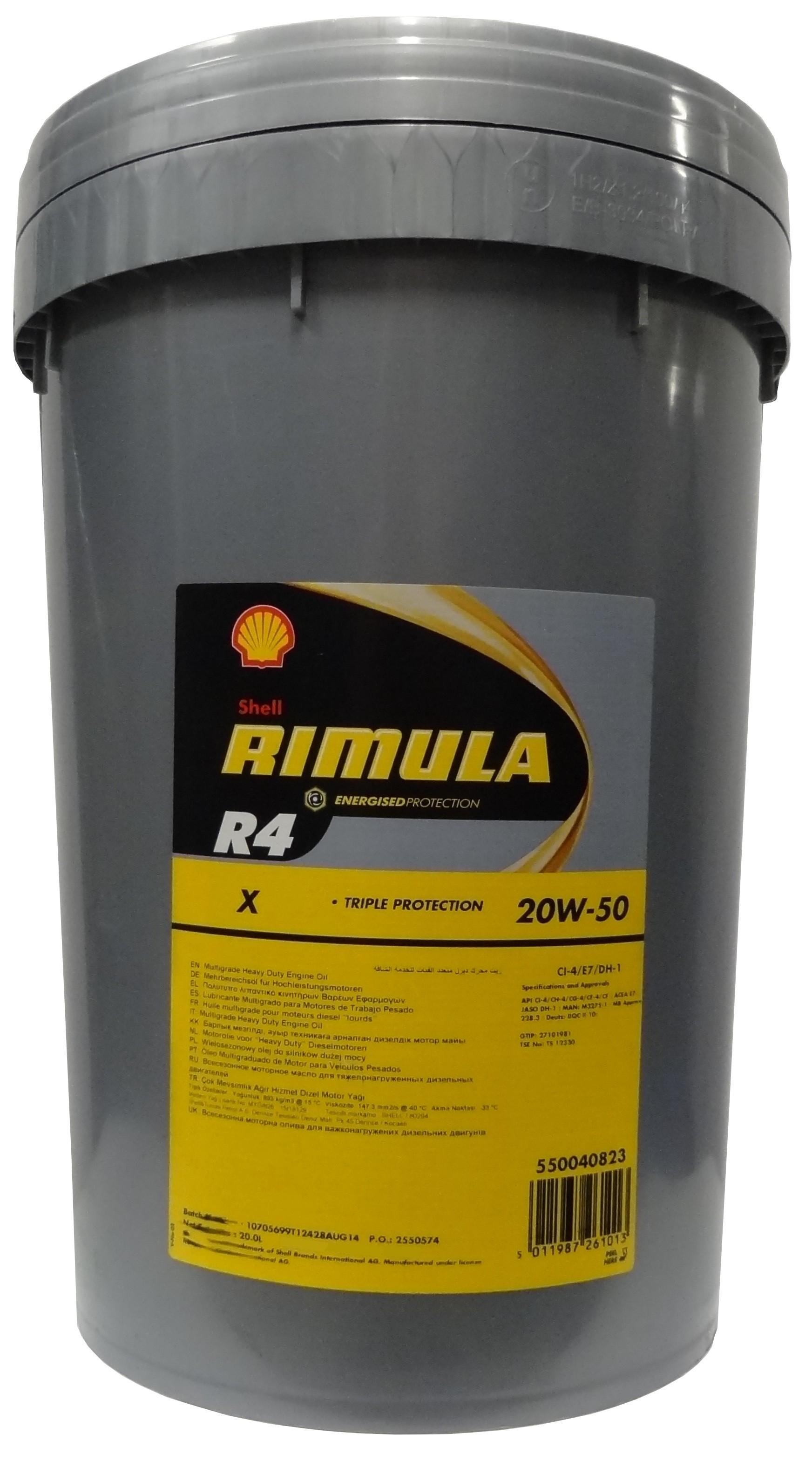 SHELL RIMULA R4 X 20W-50 20L