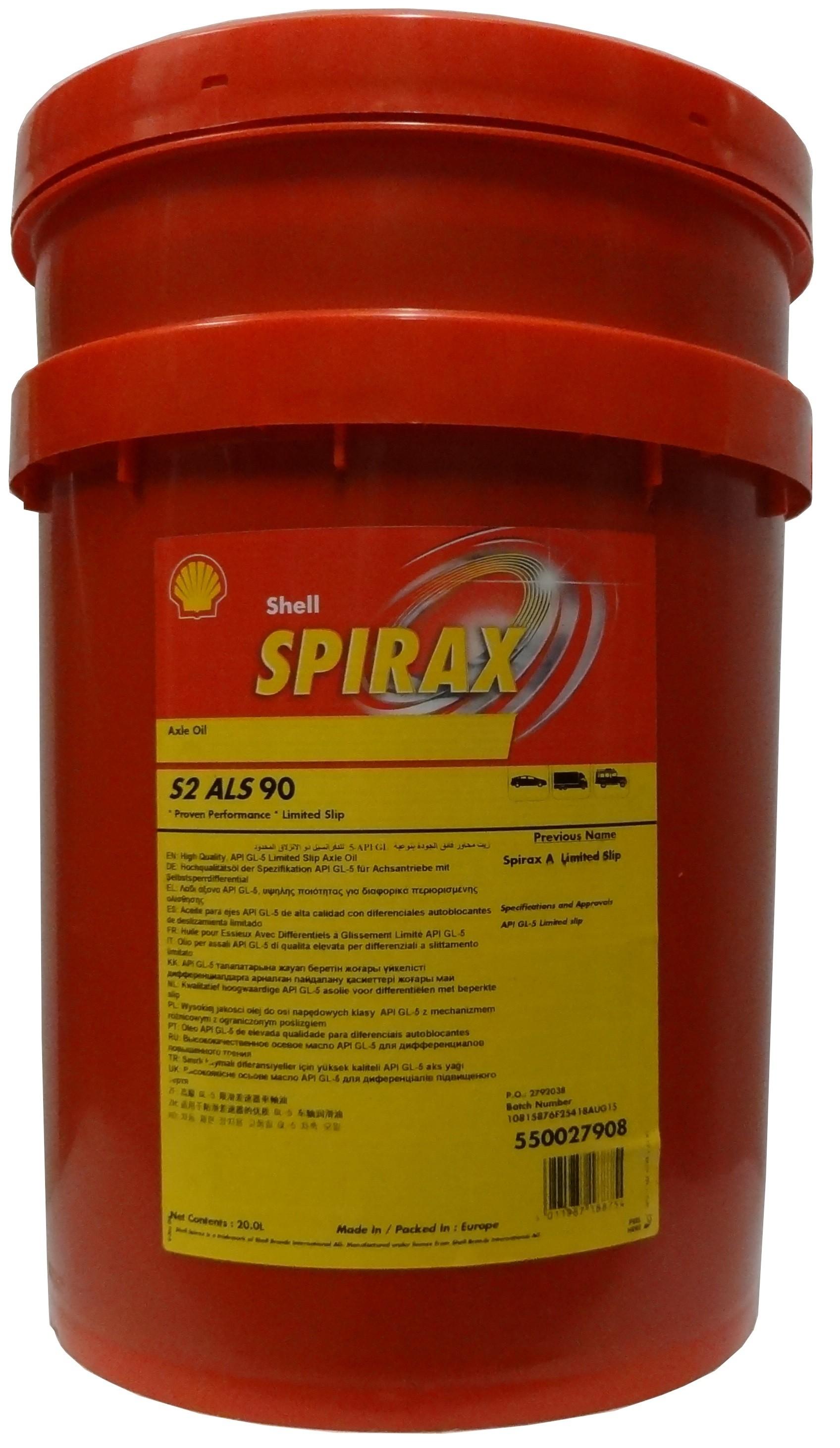 SHELL SPIRAX S2 ALS 90 20L