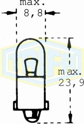 ΛΑΜΠΑ ΕΛΙΑ 12V 2W BA9s (Υ: 23,9) TRIFA