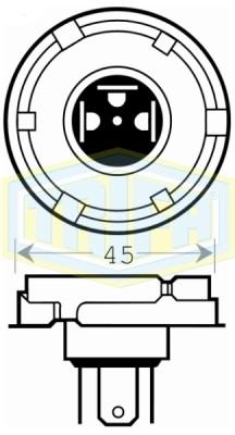 ΛΑΜΠΑ Η4 P45 12V 060/55W TRIFA
