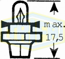 """ΛΑΜΠΑ ΨΕΙΡΑ Χ.Κ. Μ.Ν 12V 1.1W """"BX8,4d"""" TRIFA"""