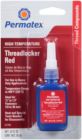 Permatex Threadlocker Red High Temperature 10ml