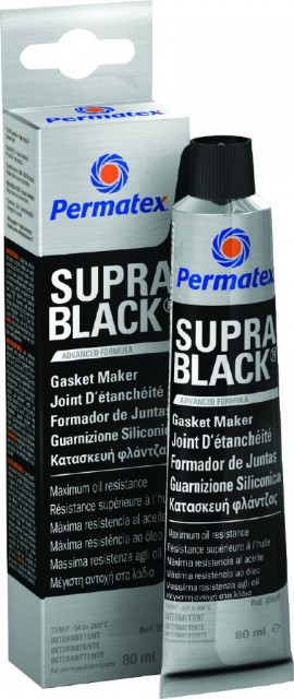 Permatex Supra Black RTV Gasket Maker 80ml