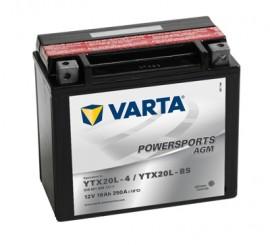 VARTA ΜΠΑΤΑΡIΑ MOTO YTX20L-BS (18Ah/250A) 177x88x156