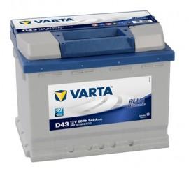 VARTA BLUELINE ΑΡΙΣΤ. ΜΠΑΤΑΡΙΑ D43 (60Ah/540A) 242x175x190mm