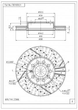 ΔΙΣΚΟΠΛΑΚΑ FI.BA FBD165R/H