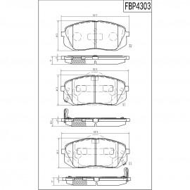 ΤΑΚΑΚΙΑ ΜΠΡΟΣΤΑ FI.BA FBP4303