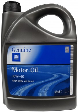 GM MOTOR OIL 10W-40 5L