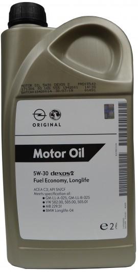 GM MOTOR OIL 5W-30 2L