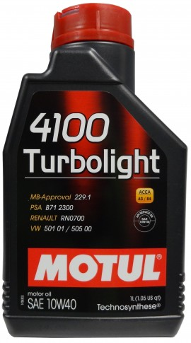 MOTUL 4100 TURBOLIGHT 10W-40 1L