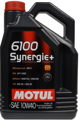 MOTUL 6100 SYNERGIE+ 10W-40 4L
